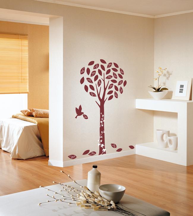 Žametno drevo s ptico - rdeče-93