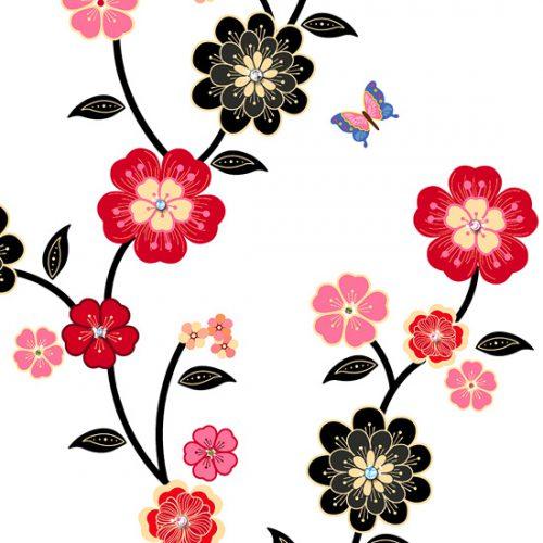 Muca, cvetovi in metulji-146