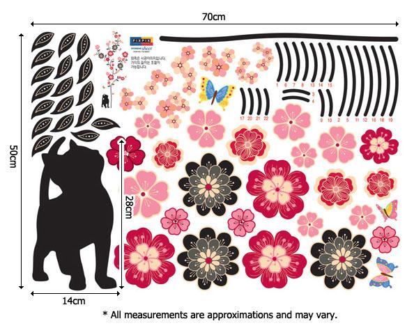 Muca, cvetovi in metulji-144