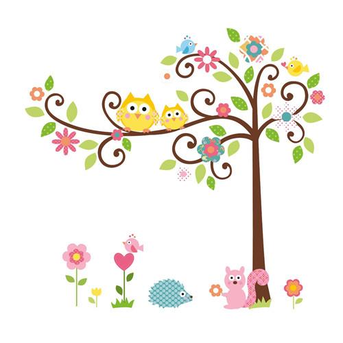 Cvetoče gozdno drevo - rumeni sovici-0