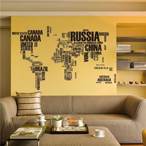 Zemljevid in države sveta - črna-532