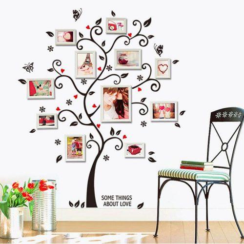 Družinsko drevo - rdeče črno-0