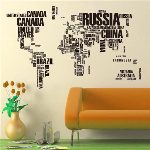 Zemljevid in države sveta - črna-0