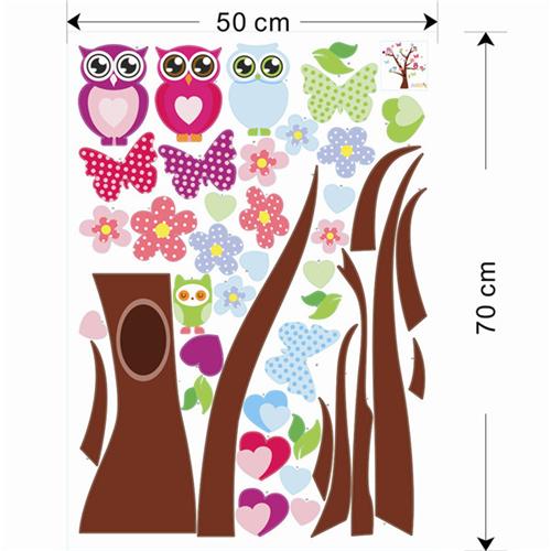 Metuljčki in sovice na drevesu-431