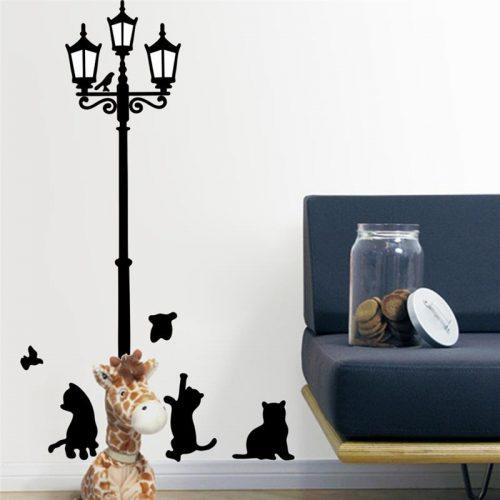 Mačke ob ulični svetilki - mala-0