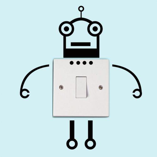 Nalepka za stikalo - Robotek-0