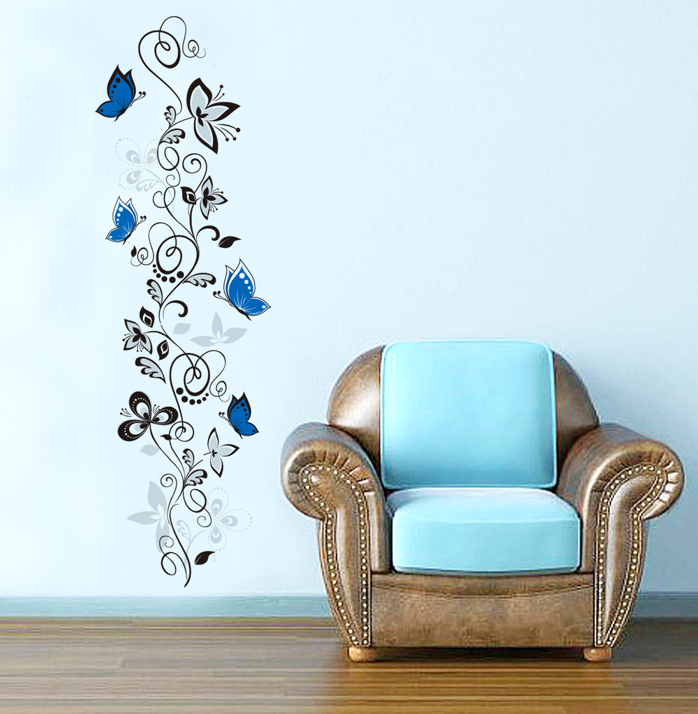 Črna plezalka in modri metulji-0