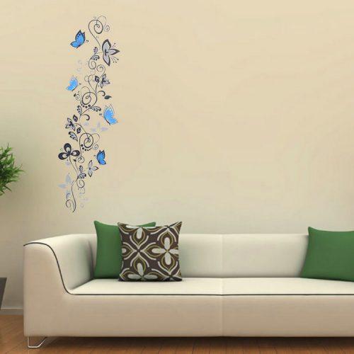 Črna plezalka in modri metulji-925