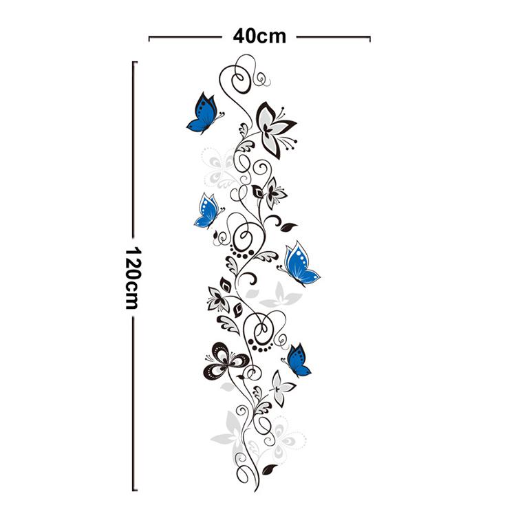 Črna plezalka in modri metulji-927