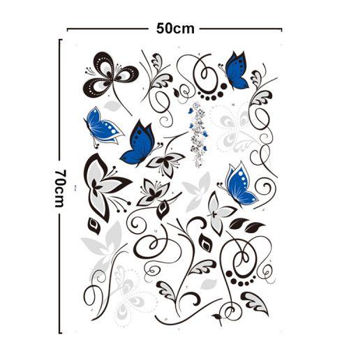 Črna plezalka in modri metulji-929