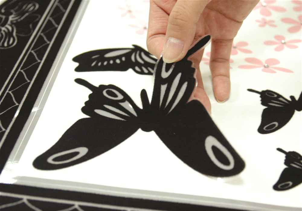 Žametni okvir z metulji-78