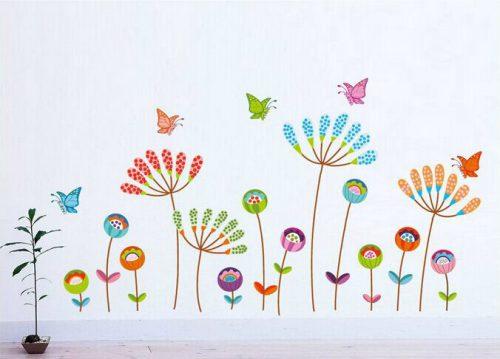 Pisane rože in metulji-0