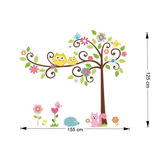 Cvetoče gozdno drevo - rumeni sovici-419