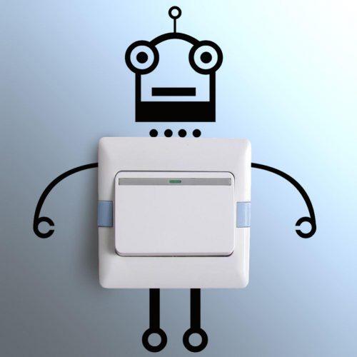 Nalepka za stikalo - Robotek-862